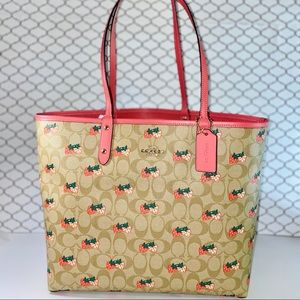 COACH Reversible Tote Strawberry Bag